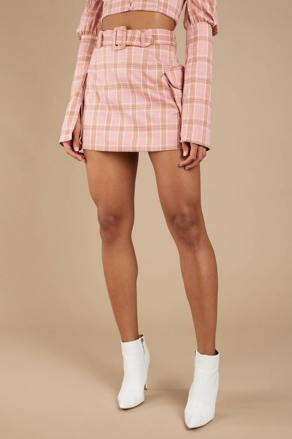 Winston Pink Multi Plaid Skirt
