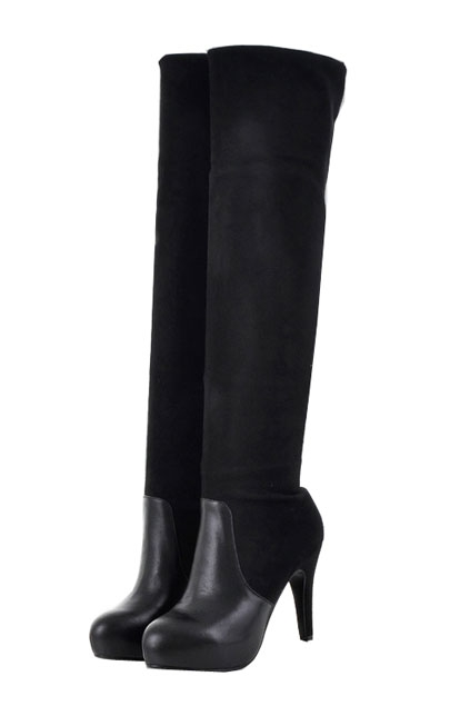 Block Over-the-knee High Heel Boots - OASAP.com