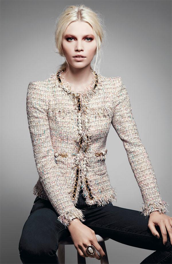 Jacket Chanel Style Jacket Boucle Jacket - Wheretoget