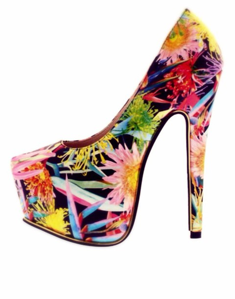 shoes cute high heels heels floral shoes floral high heels colorful shoes colorful heels trendy trendy shoes fashion pumps high heels high heels style spring break cute high heels cute platforms spring sexy pumps platform shoes platform heels platform high heels