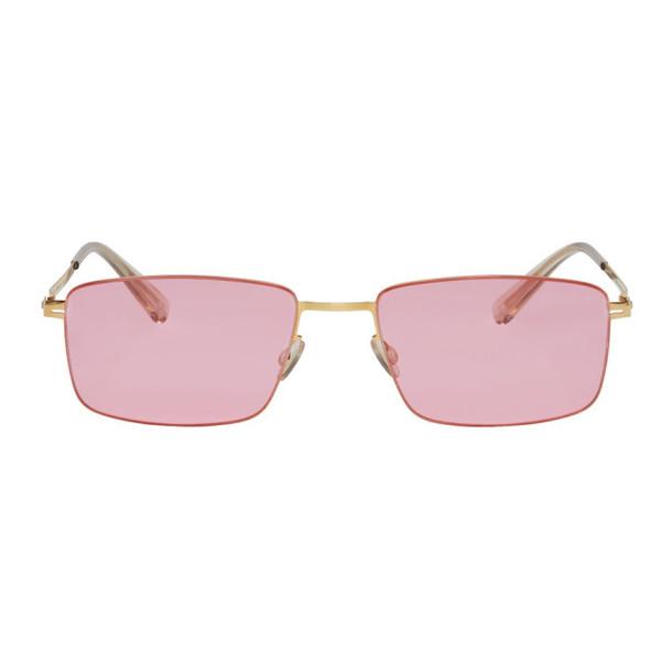 Mykita Gold & Pink Kaito Sunglasses