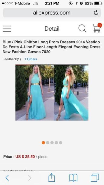 dress blue dress prom dress halter dress egyptian gorgeous dress
