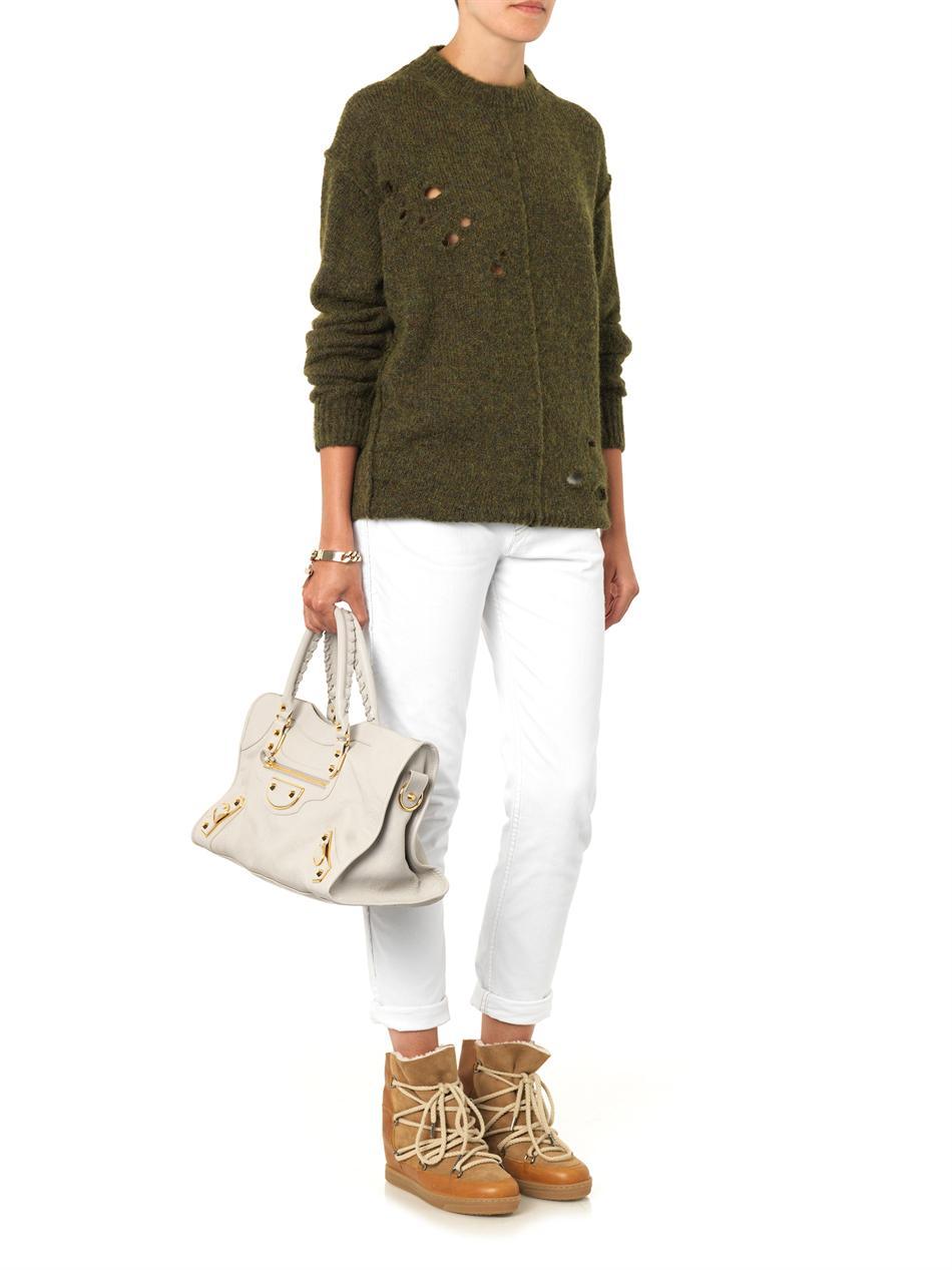 Rohan distressed sweater | Isabel Marant Étoile | MATCHESFASHI...