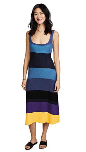 Mara Hoffman dress knit blue