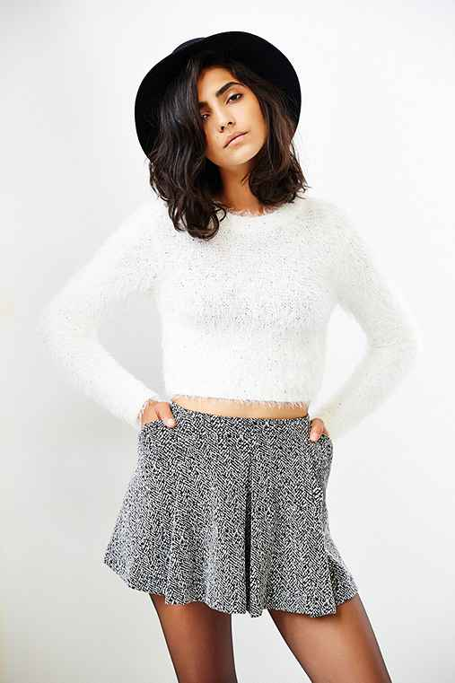 MINKPINK Freckles Fuzzy Cropped Sweater , Urban Outfitters