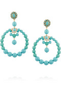 Beaded clip earrings | Oscar de la Renta | 40% off | THE OUTNET