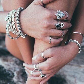 jewels shop dixi gypsy boho bohemian hippie grunge jewelry jewelery sterling silver ring bracelets cuffs