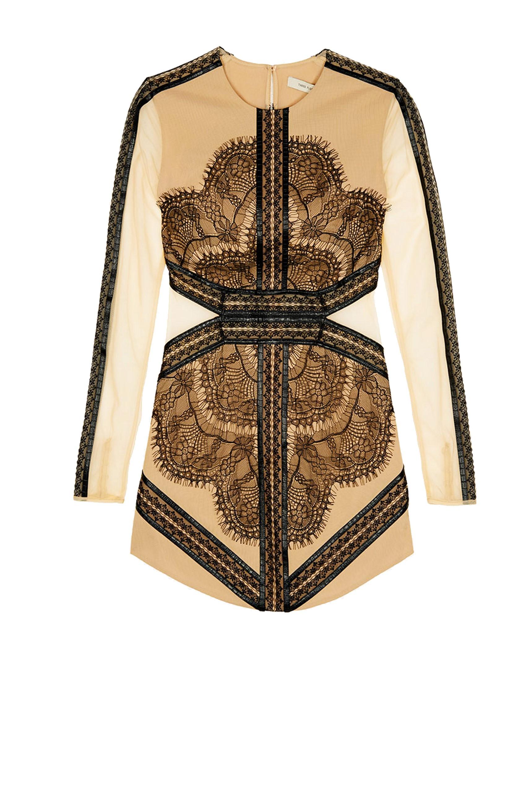 MADEMOISELLE Black Lace Dress - Styligion.com