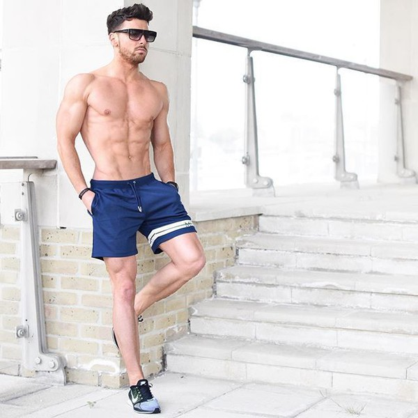 shorts maniere de voir retro short navy short
