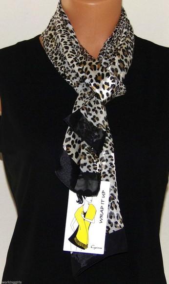 animal print scarf style fashion