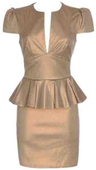 dress tonic gold essex boutique peplum sale party purple rose