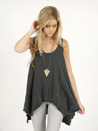 jewels necklace triangle triangle necklace blouse