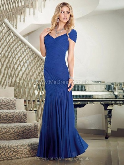 blue dress fashion