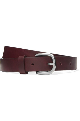 belt waist belt leather burgundy