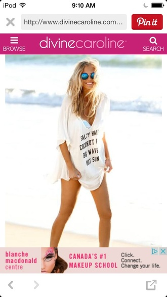 shirt oversize oversized oversized shirt nordstrom beach beach cover beach coverup swim coverup swimsuit cover up casual summer summer shirt style quote on it beach cover up baggy shirt v neck white v neck cute elegant nice love joy summer sun sun tan tanning sand sunny shirt with a quote