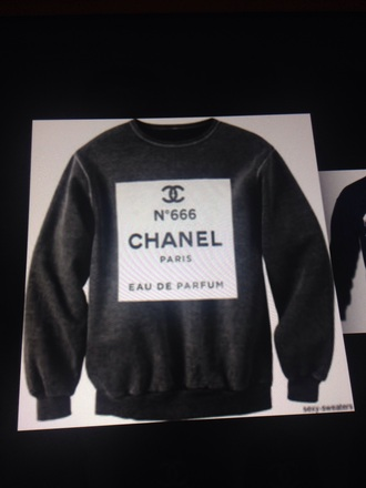 sweater chanel grey