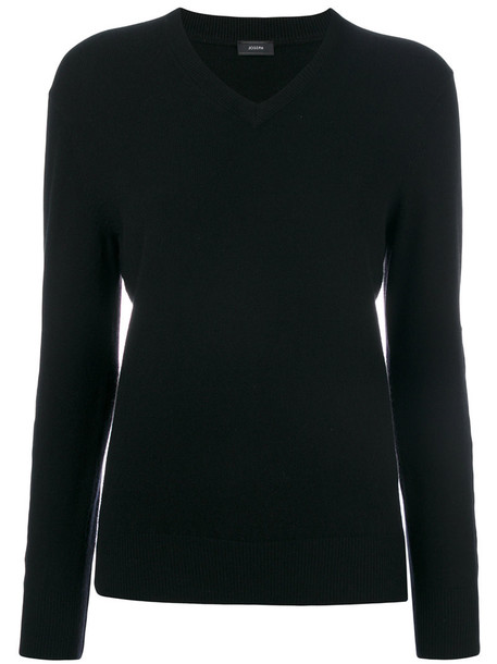 Joseph - V-neck sweater - women - Cashmere - L, Black, Cashmere