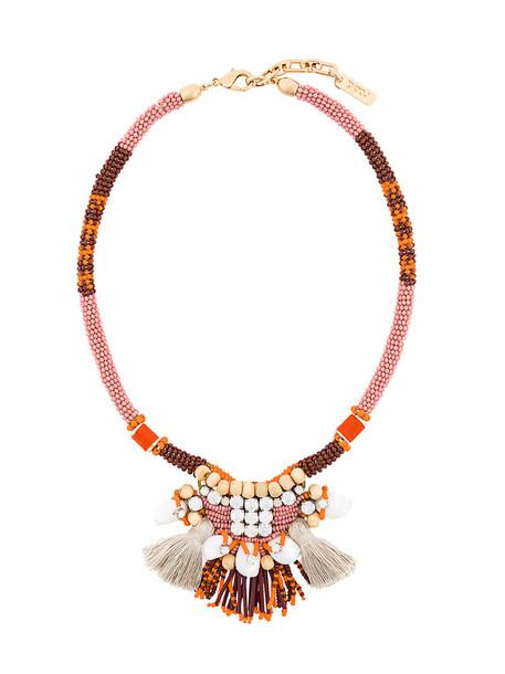 RADÀ women necklace silk yellow orange jewels