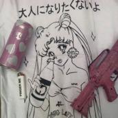 t-shirt,sailor moon,anime,manga,thug life