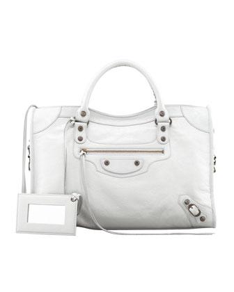 Balenciaga Classic City Bag, Gris Glace - Neiman Marcus