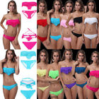 2PCS Sexy Caged Cut Out Swimsuit Bikini Set Bathing Suit Padded Push Up Swimwear