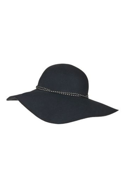 Topshop fedora navy blue hat