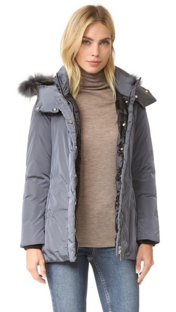 Add Down Down Jacket With Fur - Iron