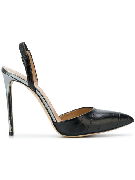 Marc Ellis women pumps leather black crocodile shoes