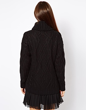 River Island | River Island Cable Knit Roll Neck Jumper at ASOS