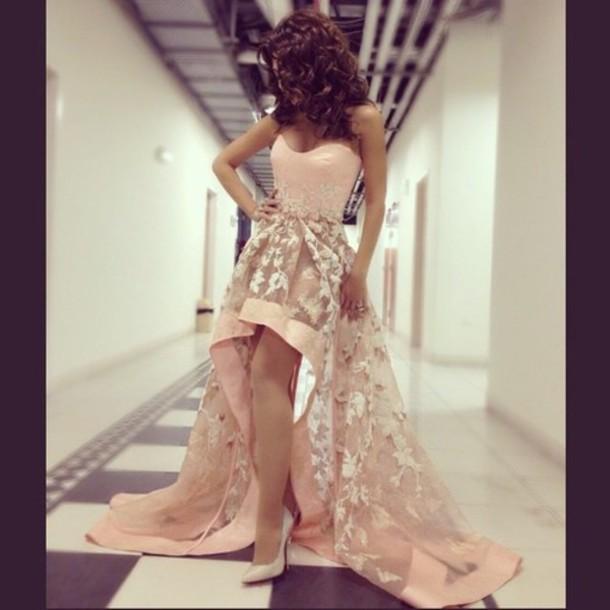 dress floral dress pink dress flowy dress