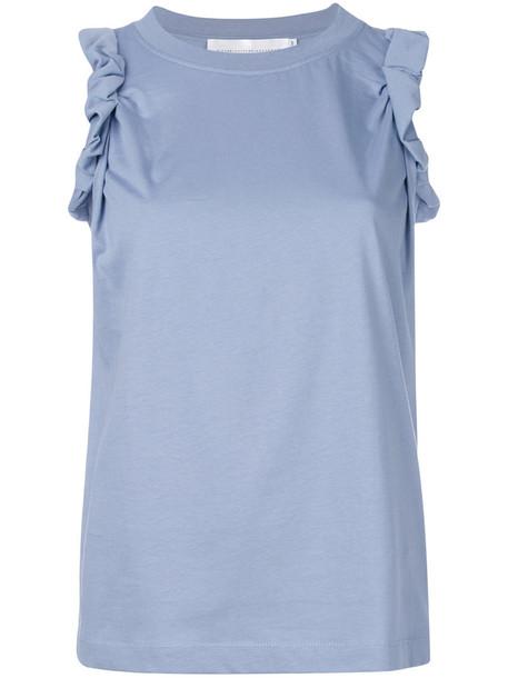 Victoria Victoria Beckham t-shirt shirt t-shirt women cotton blue top