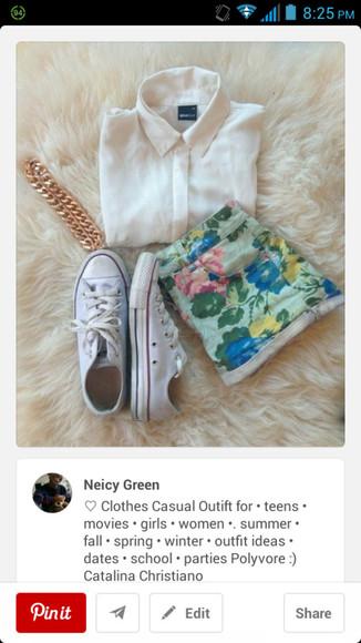 converse blouse shorts