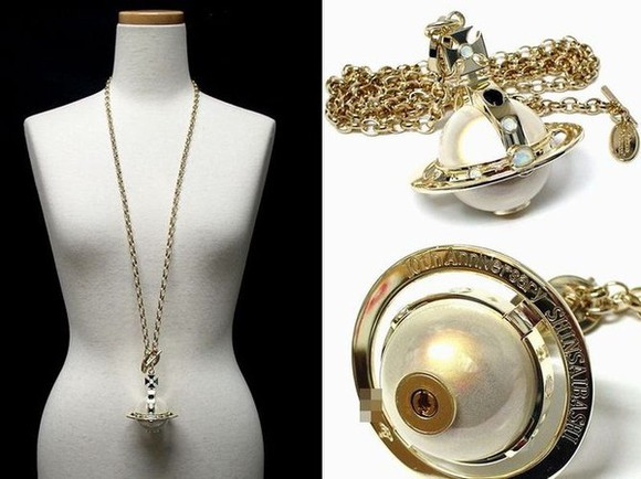 jewels lighter fire vivianne westwood orb pearl necklace Nana