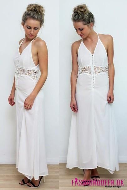 dress long dress bohemian beach dress