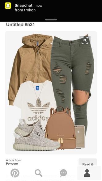 jacket khaki windbreaker beige