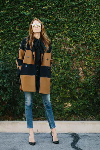 could i have that blogger coat stripes rust wool coat