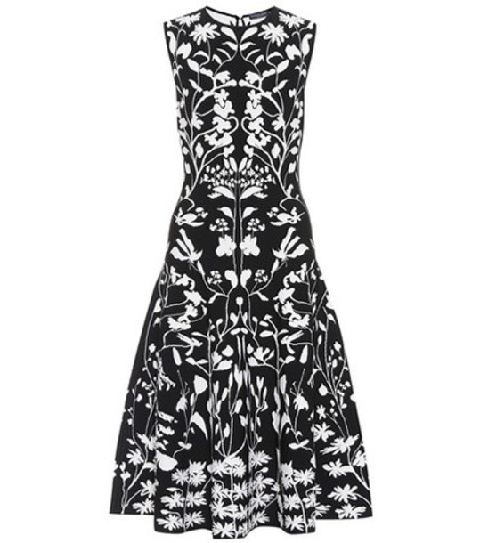 Alexander Mcqueen dress jacquard knit black
