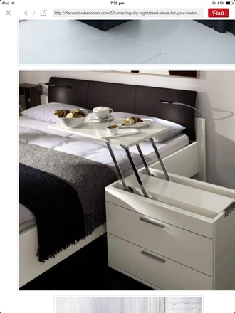 home accessory any night stand that coverts  into a table like this preferably white. home decor cozy