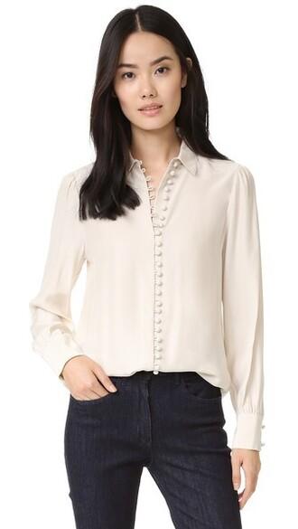 blouse button up blouse victorian top