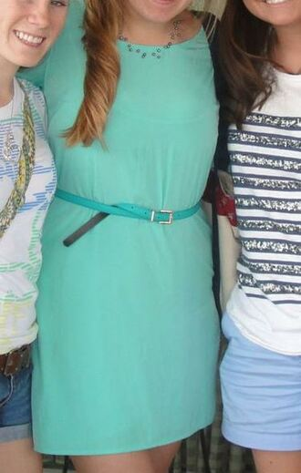 turquoise dress light blue summer dress simple dress