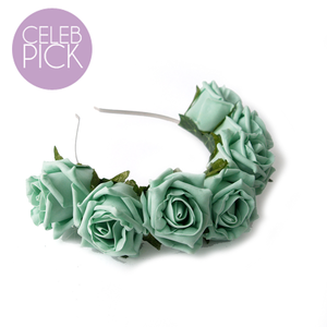 Crown and Glory Hair Accessories — Whole Lotta Rosie Headband - Mint
