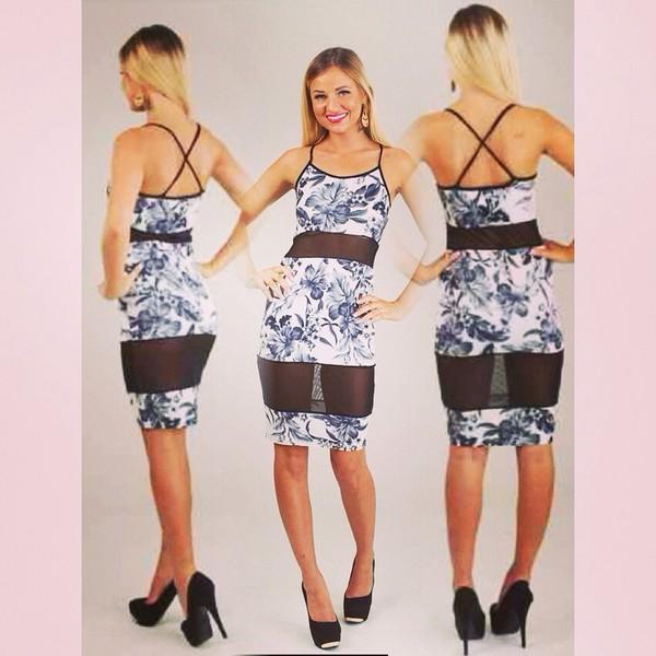 midi dress straps flowers gorgeous dress bodycon dress mesh sheer gorgeous dresses