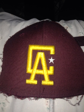 hat maroon snapback snapback gold ca whit star the classics menswear 31 on side customize all maroon california