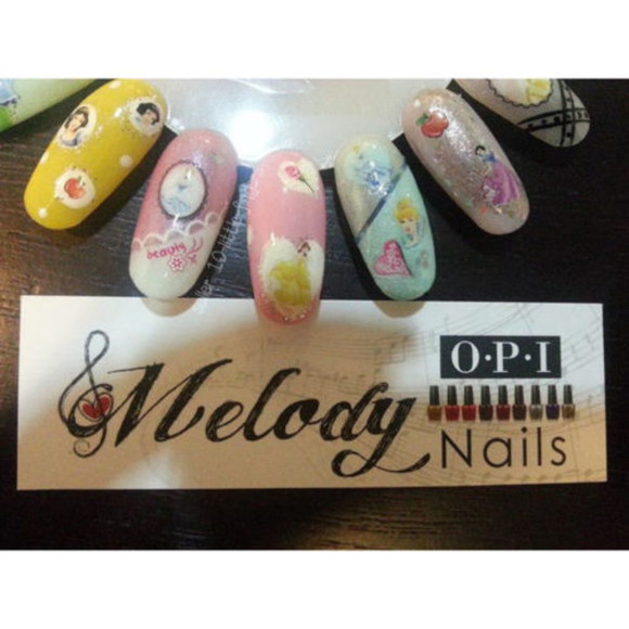 disney nail polish diy nail art purple belle nail accessories stickers princess once upon a time show once upon a time Nails yellow decals