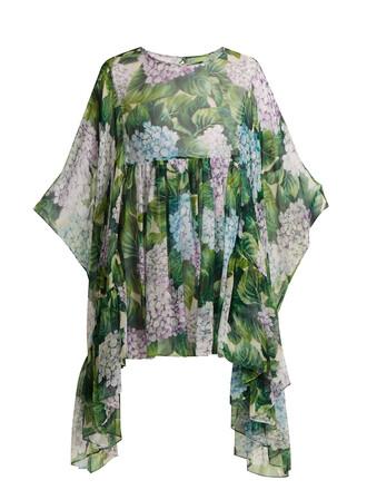 blouse chiffon blouse chiffon print silk green top