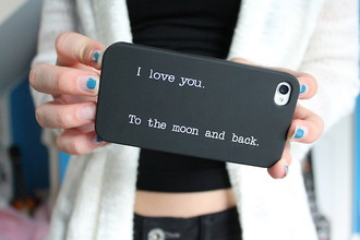 jewels black case i love you to the moon and back case phone cover phone iphone case iphone iphone 4s case iphone4 iphone cover iphone 5 case i love you to the moon and back bag