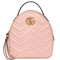 Gucci - gg marmont quilted leather backpack - women - leather/metal/microfibre - one size, pink/purple, leather/metal/microfibre