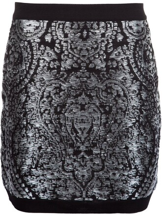 skirt mini skirt mini embroidered pattern metallic