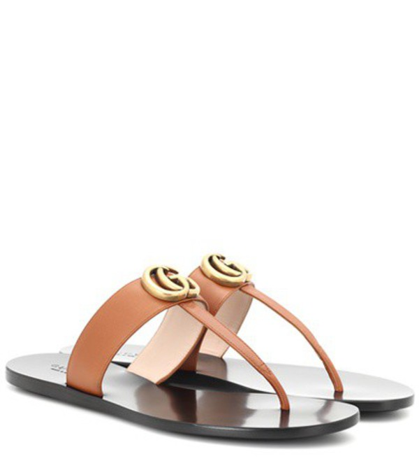 Gucci Leather sandals in brown