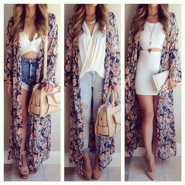jacket undefined maxi floral kimono kimono floral fashion instagram floral kimono shoes cardigan top blouse jeans swimwear bag